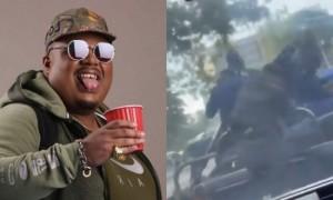 Naza filme une scène hilarante de soldats attaqués par des abeilles à Kinshasa (Vidéo)
