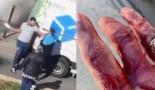 Un homme tente d'égorger au couteau de boucher un livreur arrivé en retard (vidéo)