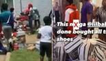 Lil Baby achète tout le stock d'un footlocker et l'offre aux  plus démunis (Vidéo)