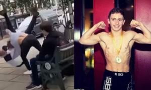 Un homme agresse un adolescent qui s'avère être champion du monde de Jujitsu (Vidéo)