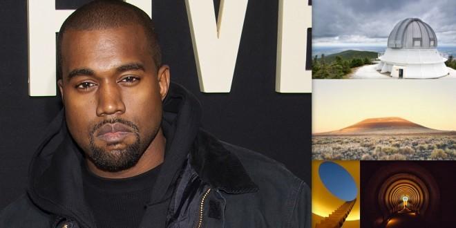 Kanye West paye 10 millions$ pour transformer un volcan en oeuvre d'art sous forme d'observatoire !