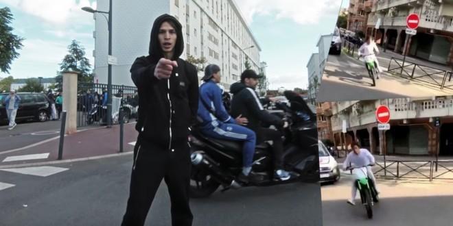 Moha La Squale s'est fait courser par la police à bord d'une motocross !
