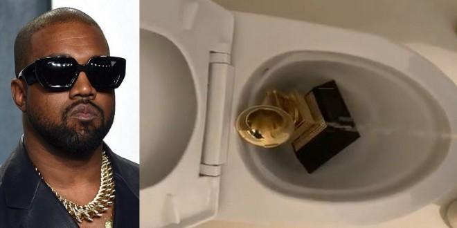 Kanye West choque le monde entier en pissant sur son trophée Grammy
