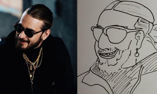 Un fan a fait un portrait raté de SCH, la réaction magique du rappeur fait le buzz