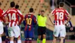 Lionel Messi pète les plombs et reçoit le premier carton rouge de sa carrière ! (vidéo)