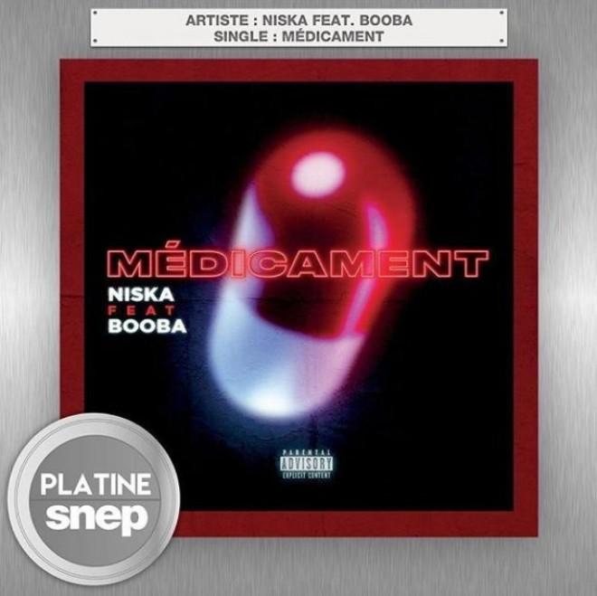 Le titre ''Médicament'' de Niska en feat avec Booba est certifié single de platine !