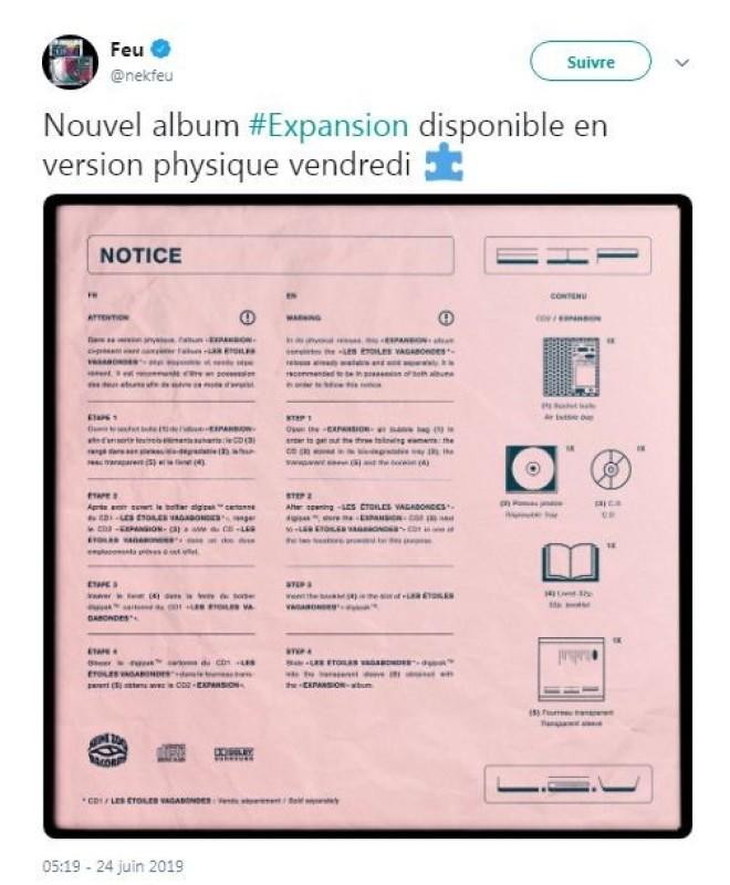 Nekfeu dévoile la notice d'utilisation de son album ''Les étoiles vagabondes : Expansion''