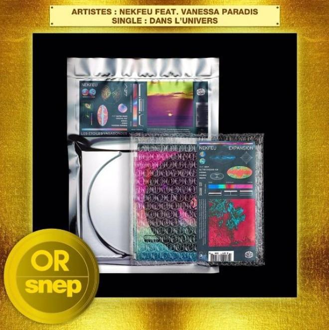Le titre ''Dans l'univers'' de Nekfeu en feat avec Vanessa Paradis est certifié single d'or !