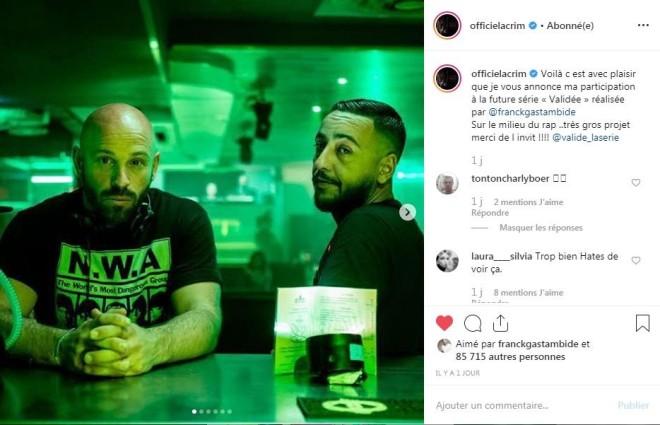 Lacrim participera dans une série de rap français intitulé ''Validée'' réalisé par Franck Gastambide !