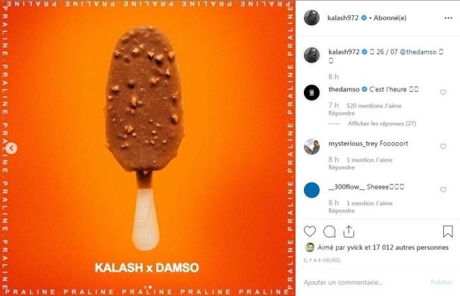 Kalash et Damso annoncent deux nouveaux feats ''Jamais tu connais'' et ''Praline'' ce vendredi !