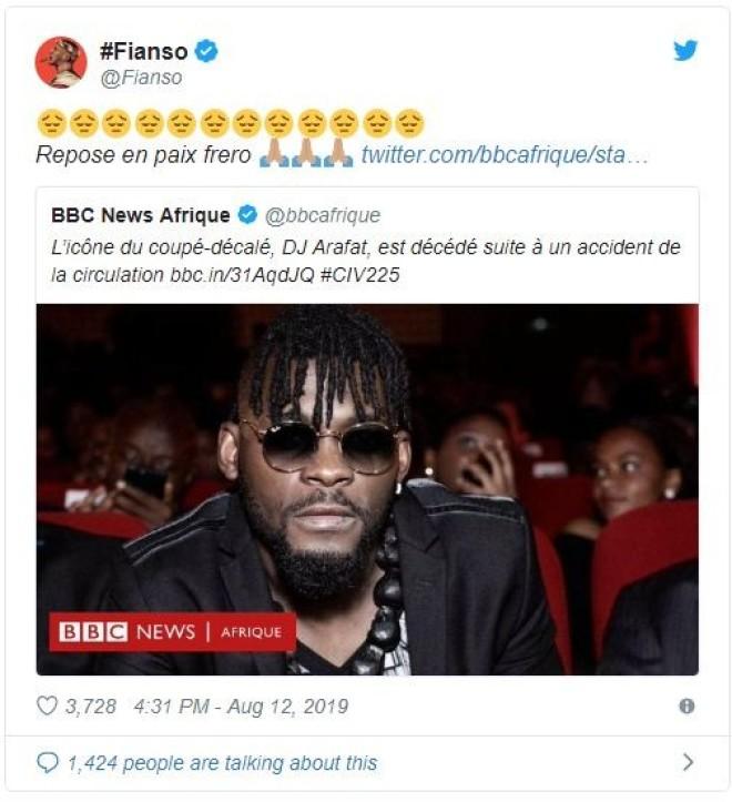 DJ Arafat est mort ... Plusieurs rappeurs français lui ont rendu hommage !