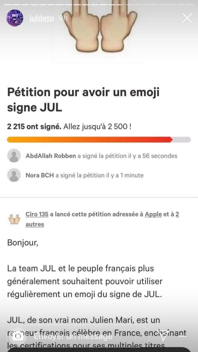 Le signe de JuL va devenir un émoji ? Une pétition a été lancé pour ça !