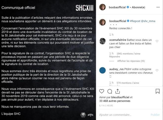 SHC démenti l'annulation du combat entre Booba et Kaaris !