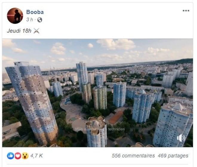 Booba dévoile la date de sortie et le teaser de son nouveau clip ''GLAIVE''