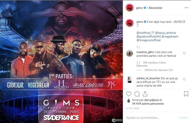 Gims invite du lourd pour sa première partie de son concert au Stade de France !