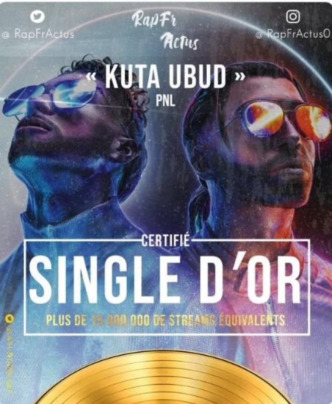 Le titre ''Kuta Ubud'' de PNL est certifié single d'or !