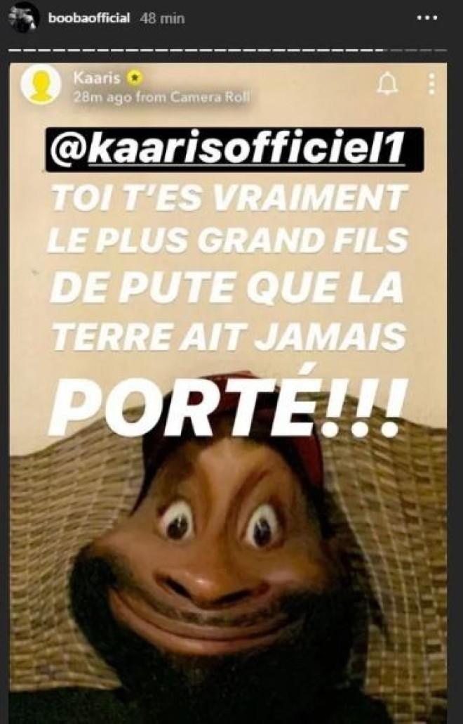 """Booba relance les hostilités avec Kaaris : """"Toi t'es le plus grand fils de p*te que la terre ait jamais porté!!!"""""""