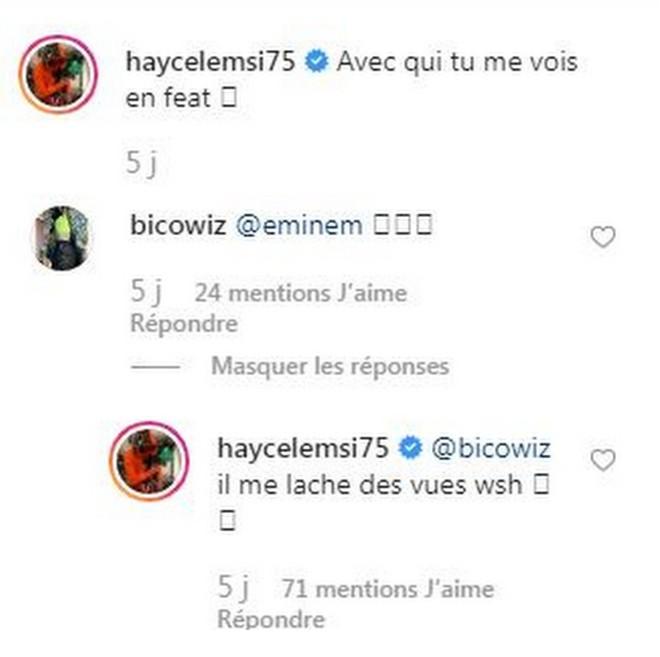 Hayce Lemsi lâche une révélation à propos d'un feat avec Eminem ! (Photo)