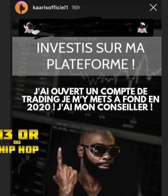 Booba ridiculise Kaaris pour avoir fait promouvoir une plateforme de trading ! (Photo)