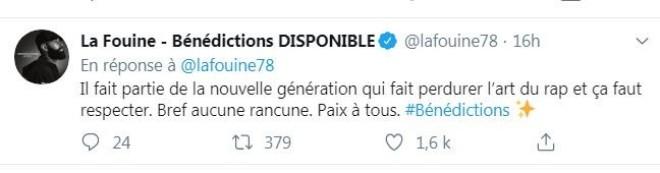 La Fouine adresse un magnifique message de paix et de respect à Damso et met fin au clash !
