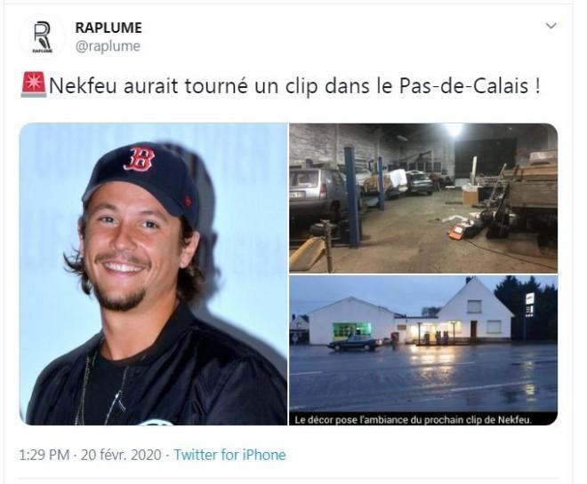 Nekfeu a tourné un clip en toute discrétion dans le nord de la France !