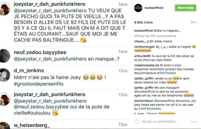 Booba repend violemment au clash de Joey Starr !