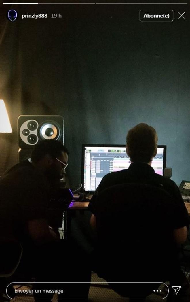 L'album ''QALF'' est toujours en préparation, Damso se montre en studio