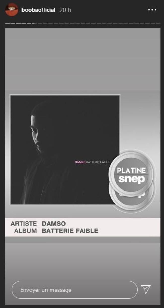 Booba félicite Damso (à sa façon) pour son double disque de platine de ''Batterie Faible''