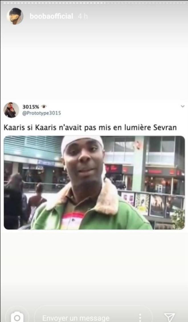 Booba se paye la tête de Kaaris, Damso et Cyril Hanouna sur instagram