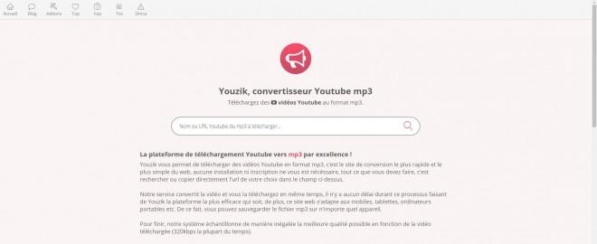 Youzik, le meilleur outil pour convertir des vidéos Youtube en mp3 !