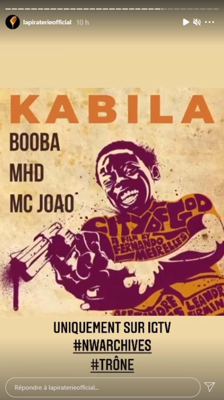 Booba dévoile la date de sortie de son feat avec MHD !