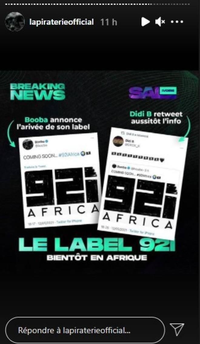 Booba sur le point de lancer un mystérieux nouveau projet ''92i Africa''