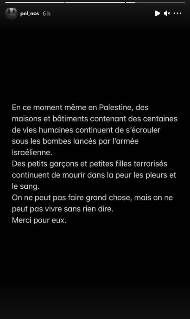 NOS prend à nouveau la parole et dénonce la situation actuelle en Palestine