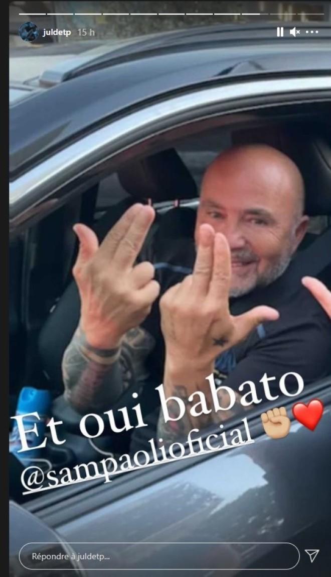 Jorge Sampaoli dédicace JUL après la victoire de l'OM
