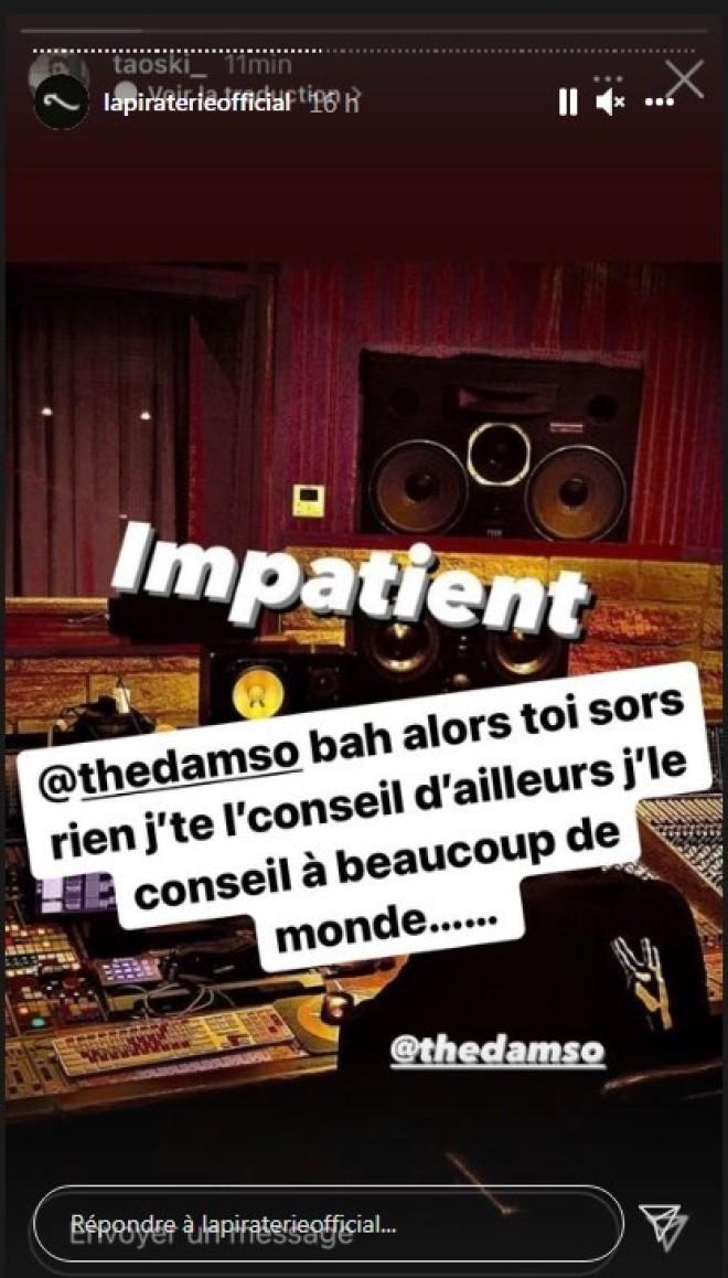 Damso annonce son retour en studio, Booba n'apprécie pas et l'avertit