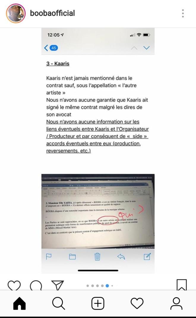 Booba refuse de signer le contrat et exige de faire le combat en Europe !