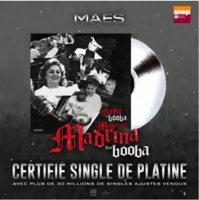 Le morceau ''Madrina'' de Maes feat Booba est certifié single de platine !