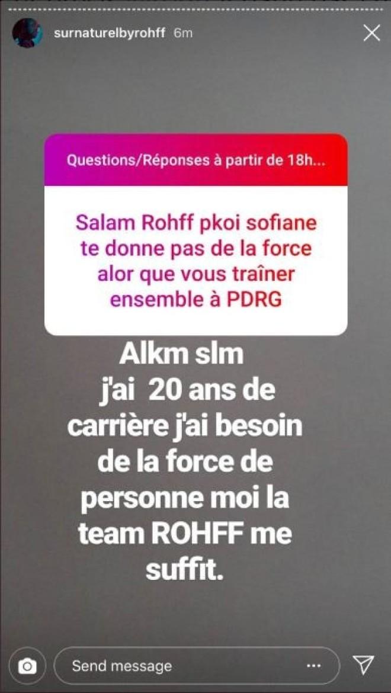 Rohff affirme qu'il n'a pas besoin de la force de Sofiane, Sofiane lui répond !