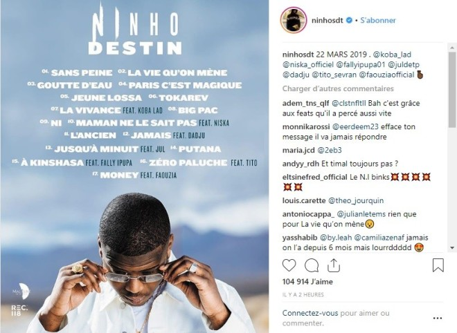 Ninho dévoile la très puissante tracklist de son nouvel album ''Destin'' !