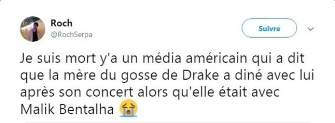 Les médias américains confondent Malik Bentalha avec Drake dans leurs articles !