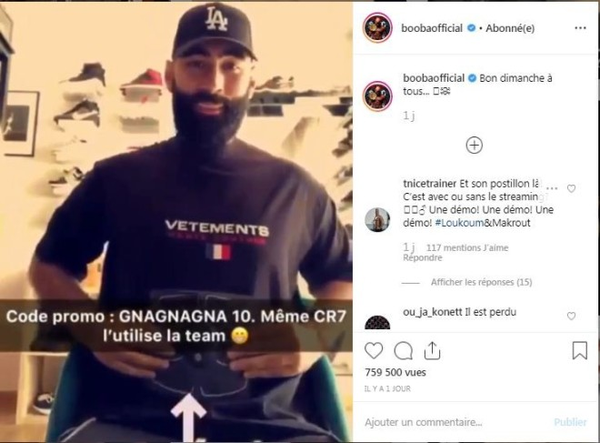 Booba se moque de La Fouine qui fait une publicité pour un produit de musculation !