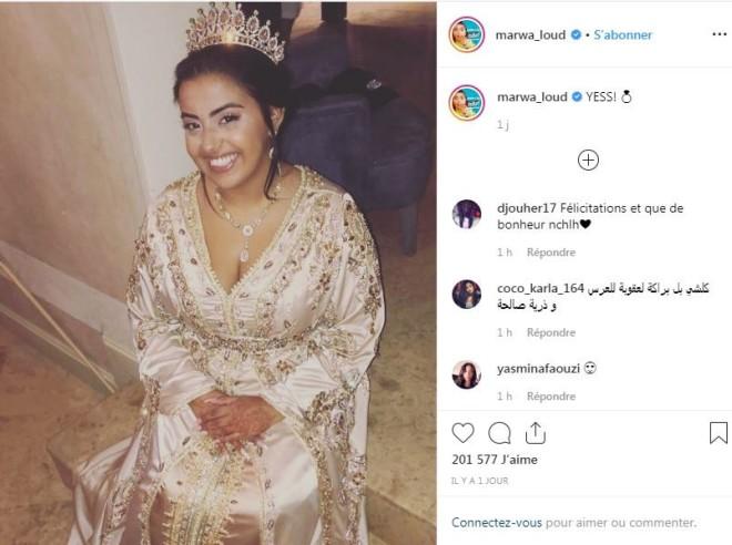 Marwa Loud s'est mariée et a partagé quelques photos de son mariage '' discret ''