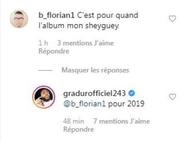 Gradur dévoile un extrait d'un titre inédit et annonce un nouvel album pour 2019 !